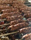 Grilling Kofta royalty free stock photo