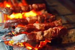 Grilling lamb Royalty Free Stock Image