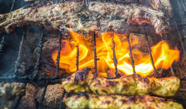 Grilling Lamb Meat II Stock Images