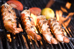 Grilling lobster Royalty Free Stock Photos