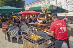Grilling markets Royalty Free Stock Photo