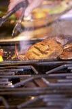 Grilling Portabella Mushrooms Royalty Free Stock Photos