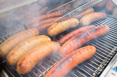 Grilling Sausage Stock Photos