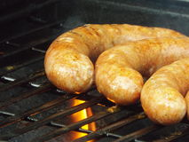Grilling Sausages Stock Photography