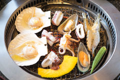 Grilling Seafood Stock Image