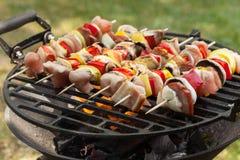 Grilling shashlik. Royalty Free Stock Image