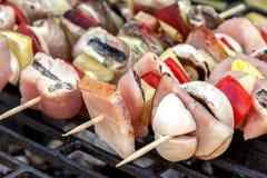 Grilling shashlik. Stock Photography