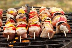 Grilling shashlik. Stock Image