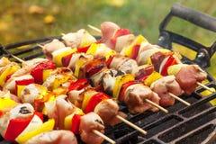 Grilling shashlik. Stock Images