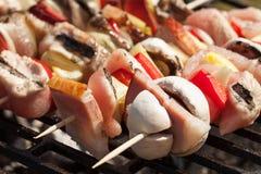 Grilling shashlik. Stock Photo