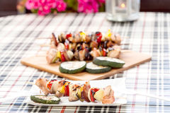 Grilling shashlik. Royalty Free Stock Images