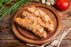 Grilling shashlik. Royalty Free Stock Photo