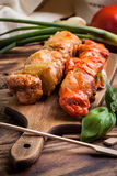 Grilling shashlik. Royalty Free Stock Images