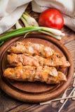 Grilling shashlik. Royalty Free Stock Photos