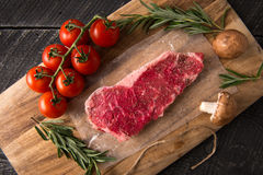 Grilling Strip Loin Steak Series: Raw Meat Stock Photography