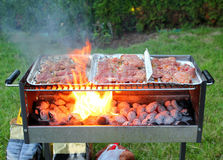 Grilling at summer Stock Photography