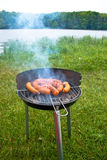 Grilling at summer weekend Stock Photos