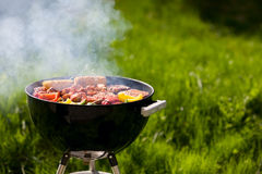 Grilling at summer weekend royalty free stock images