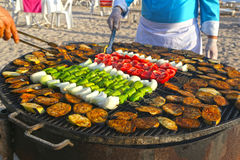 Grilling at summer weekend Royalty Free Stock Image