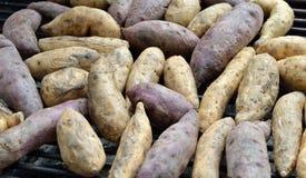 Grilling sweet potato Royalty Free Stock Photos
