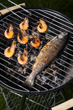 Grilling time, Grill, bright colorful vivid theme Royalty Free Stock Photo
