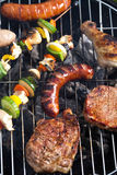 Grilling time, Grill, bright colorful vivid theme Royalty Free Stock Images