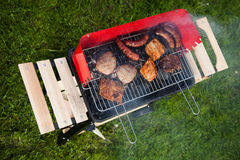 Grilling time, Grill, bright colorful vivid theme Stock Image