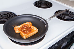 Grilling up a cheese sandwich Royalty Free Stock Image