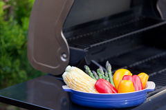 Grilling vegetables Royalty Free Stock Images