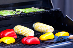 Grilling vegetables Royalty Free Stock Photos