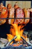 Grillling pork hock Stock Image