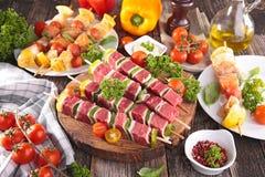 Grillmahlzeit Stockbild