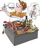 Grillmaster smaczny winograd Zdjęcie Royalty Free