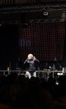 Grillo que habla en el evento de campaña europeo Imagen de archivo libre de regalías