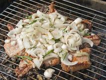 grillowany cebula mięsne Obraz Royalty Free