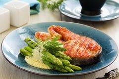 grillowany stek łososia Obraz Royalty Free