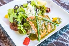 grillowany stek łososia Fotografia Royalty Free