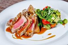 grillowany warzywa tuńczyka Obrazy Royalty Free