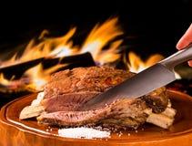 Grillrippen, traditioneller brasilianischer Grill Stockfoto