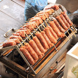 Grills fresh sausages Stock Photography