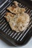 Grillschweinefleischsteak Stockbild