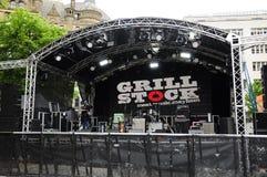 GRILLSTOCK-FESTIVAL MANCHESTER Royaltyfria Bilder