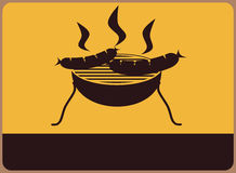 Grillsymbol stock abbildung