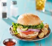 grilowany kurczak kanapka Zdjęcie Royalty Free