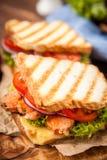 grilowany kurczak kanapka Zdjęcia Royalty Free