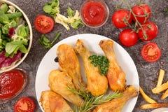 grilowany kurczak noga Obraz Stock