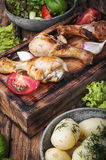 grilowany kurczak nogi Fotografia Royalty Free