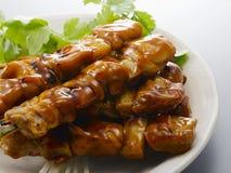 grilowany kurczak yakitori Fotografia Stock
