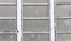Grils de porte en métal Photographie stock libre de droits