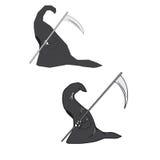 Grim devil. Grim reaper cartoon drawing vector Stock Photo